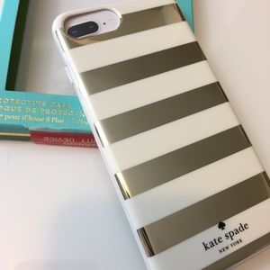 •new• KATE SPADE Mirrored Stripe iPhone Plus Case